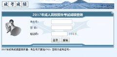 湖南省2017年成人高考成绩