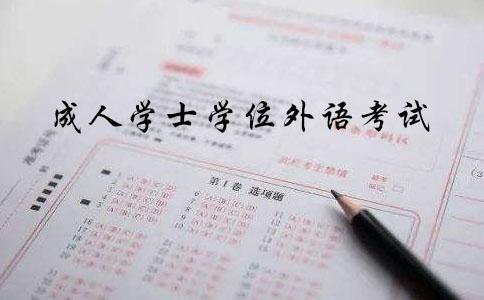 成人学士学位英语考试