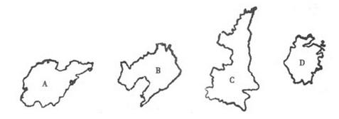 第43题我国各省轮廓图